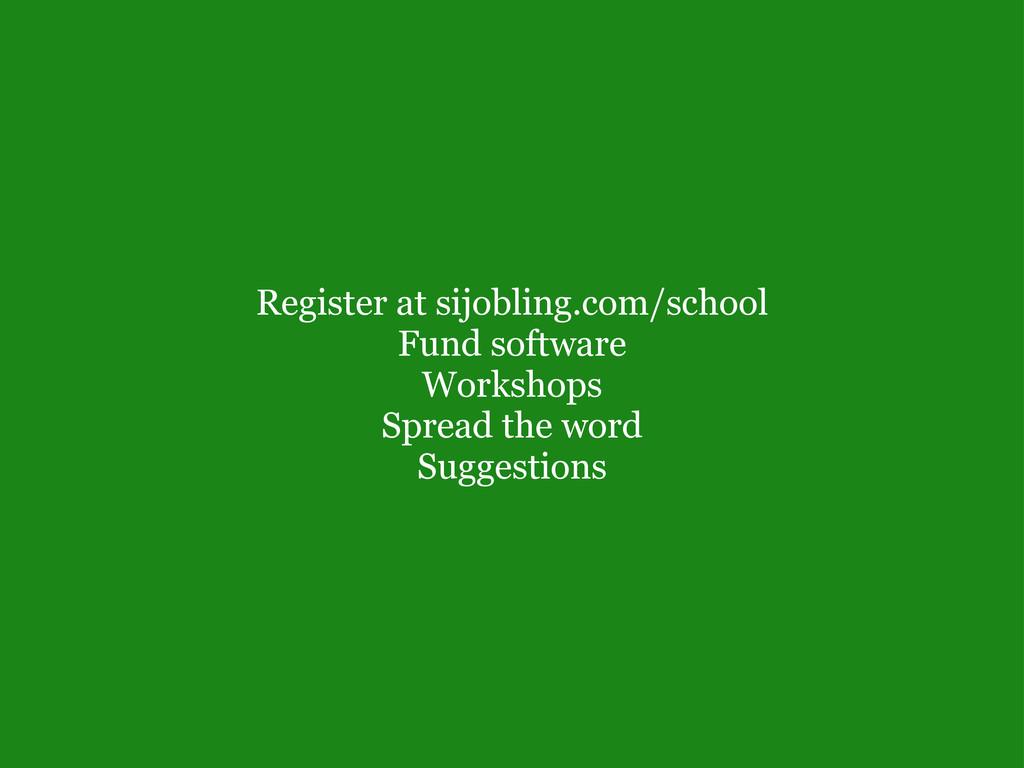 Register at sijobling.com/school Fund software...