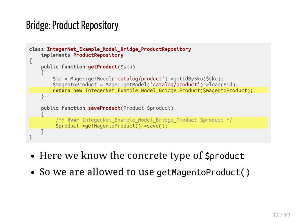 Bridge: Product Repository class IntegerNet_Exa...