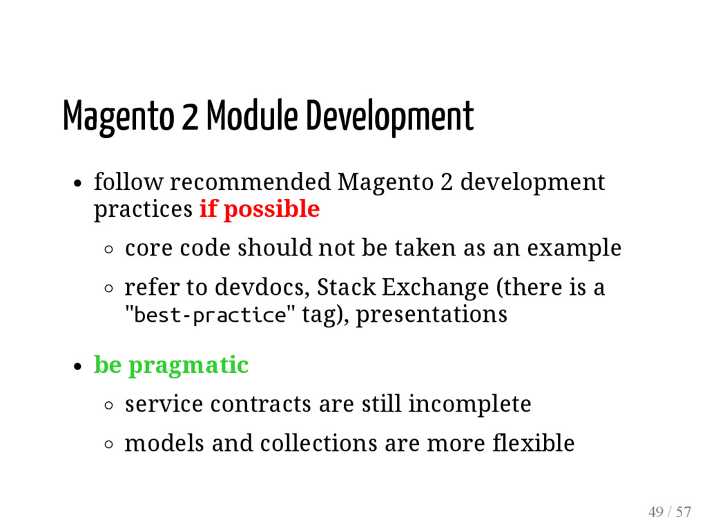 Magento 2 Module Development follow recommended...