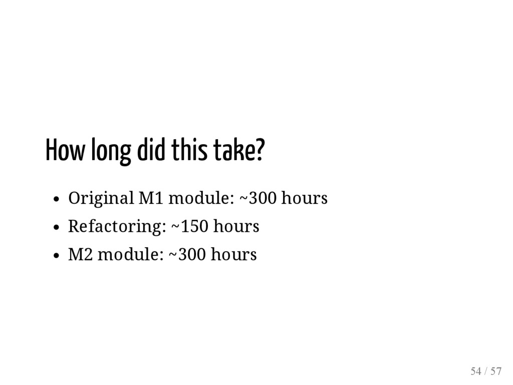 How long did this take? Original M1 module: ~30...