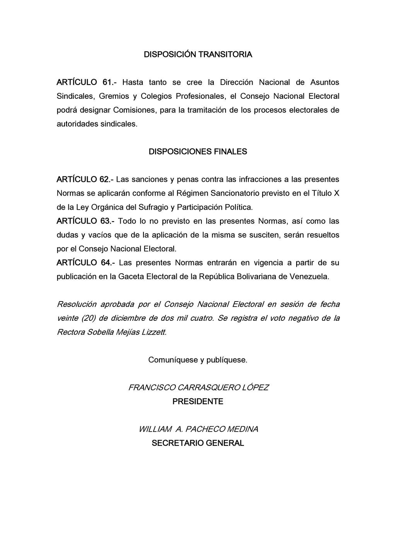 DISPOSICIÓN TRANSITORIA ARTÍCULO 61.- Hasta tan...