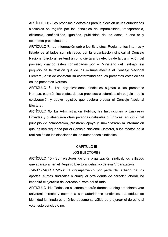 ARTÍCULO 6.- Los procesos electorales para la e...