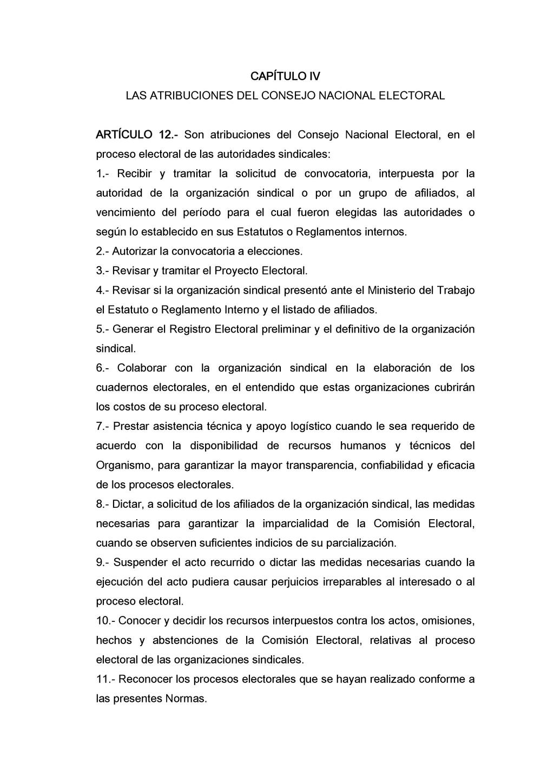 CAPÍTULO IV LAS ATRIBUCIONES DEL CONSEJO NACION...