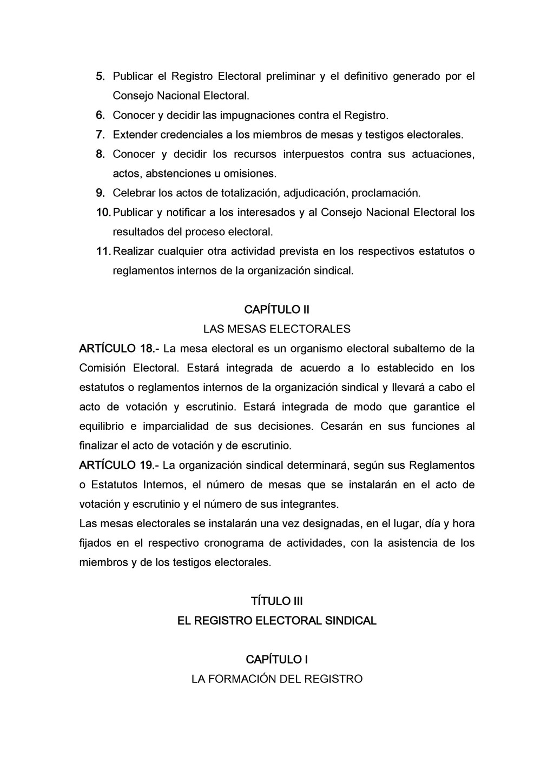5. Publicar el Registro Electoral preliminar y ...