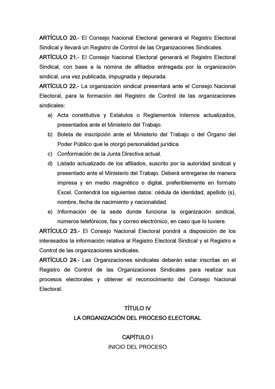 ARTÍCULO 20.- El Consejo Nacional Electoral gen...