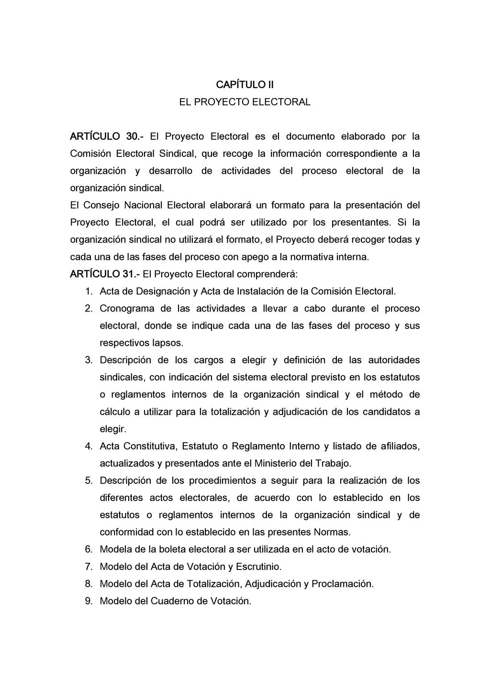 CAPÍTULO II EL PROYECTO ELECTORAL ARTÍCULO 30.-...