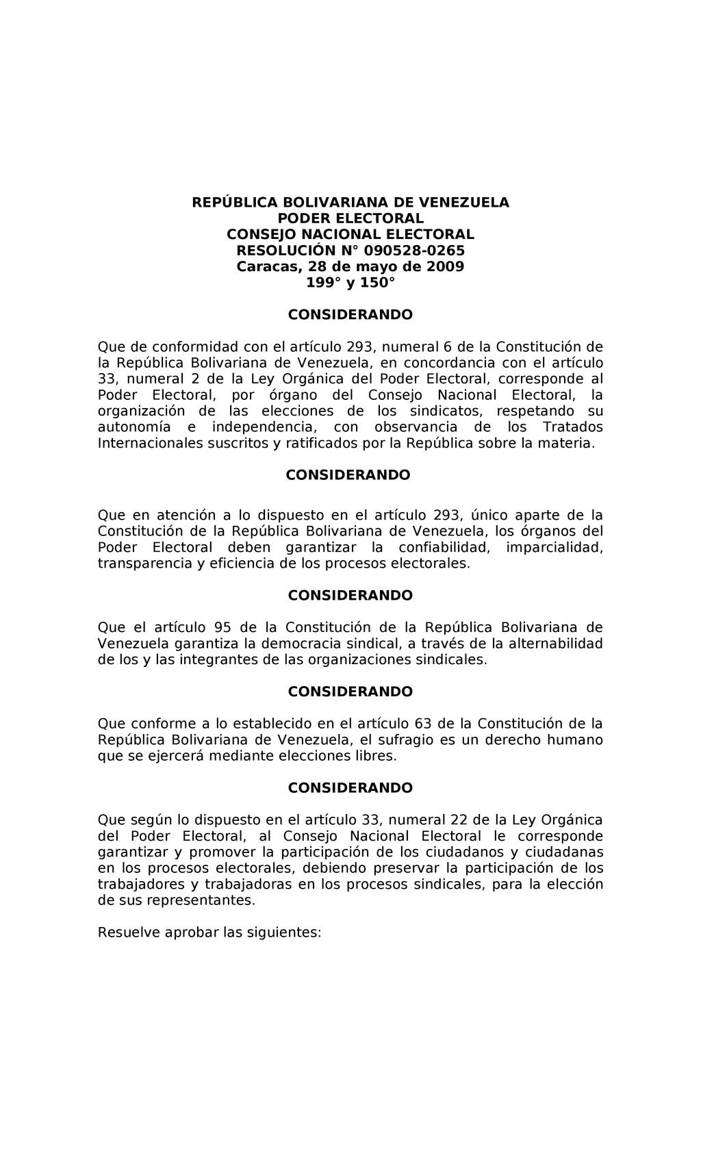 REPÚBLICA BOLIVARIANA DE VENEZUELA PODER ELECTO...