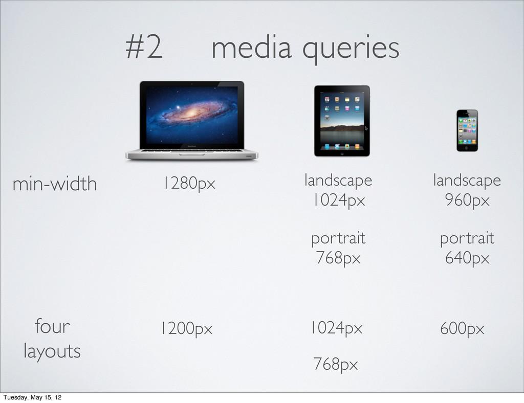 #2 media queries min-width landscape 1024px por...