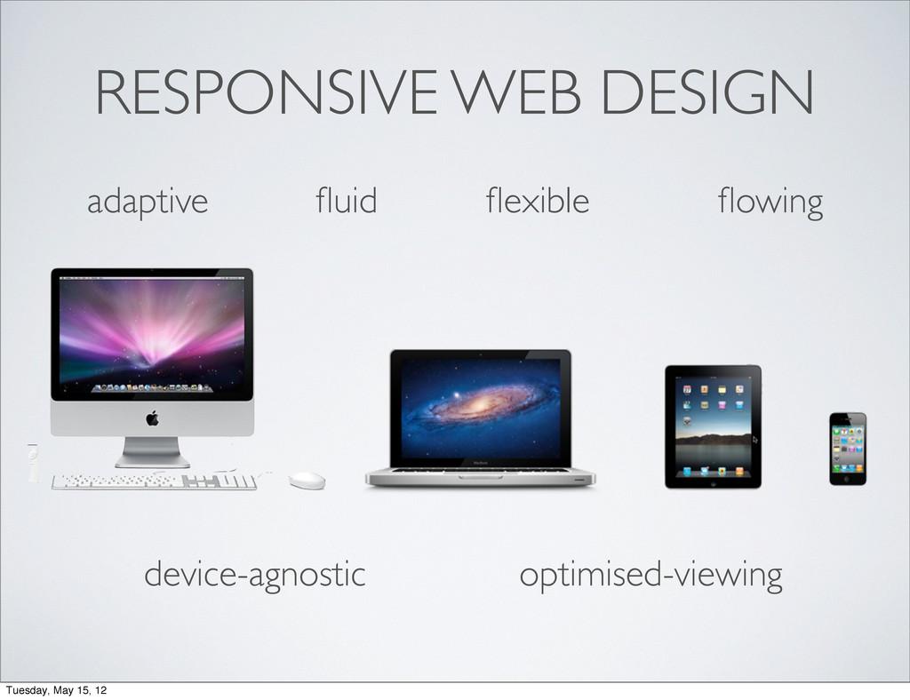 RESPONSIVE WEB DESIGN adaptive fluid flexible flow...