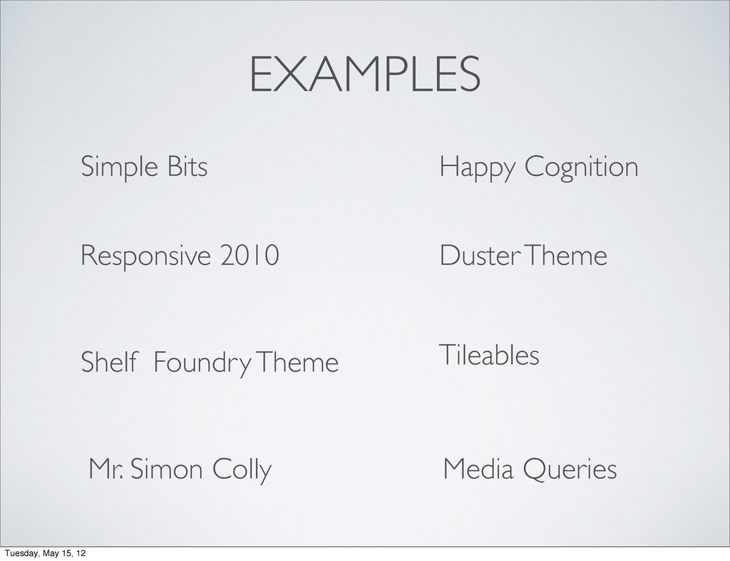 EXAMPLES Media Queries Happy Cognition Simple B...