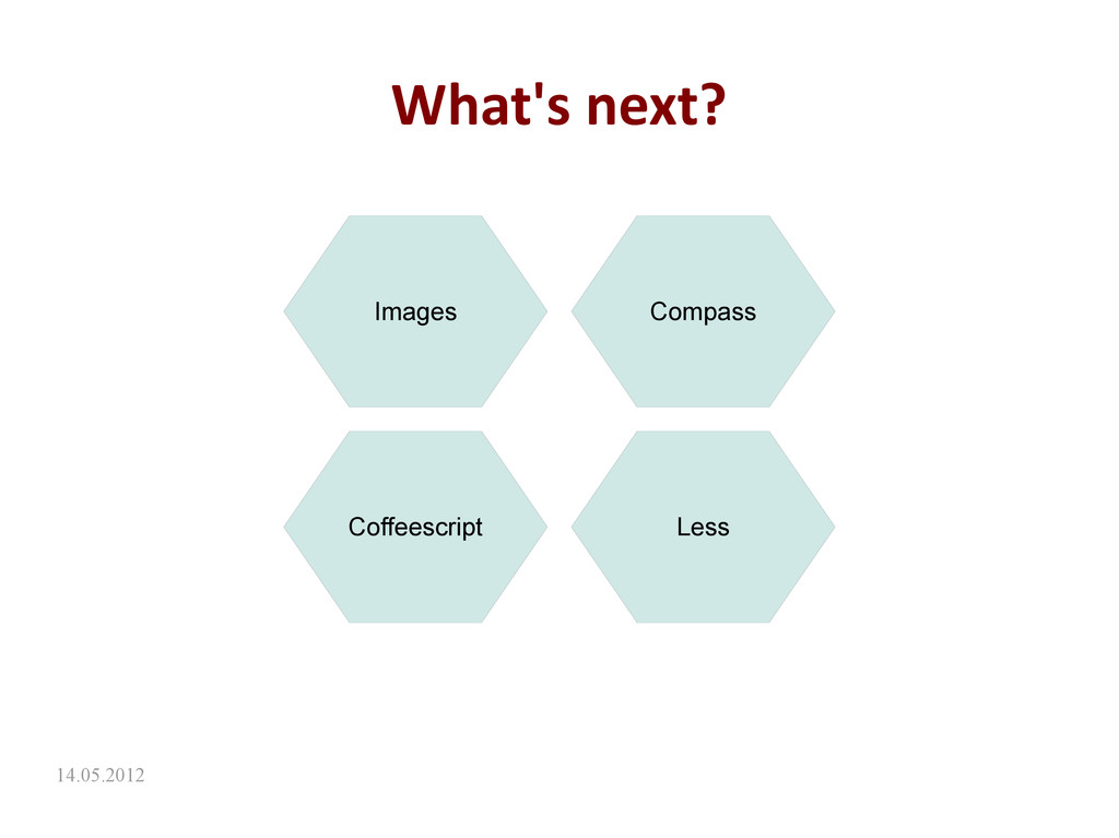 14.05.2012 What's next? Images Compass Coffeesc...
