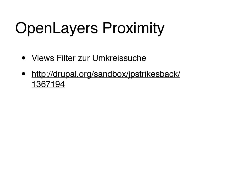 OpenLayers Proximity • Views Filter zur Umkreis...