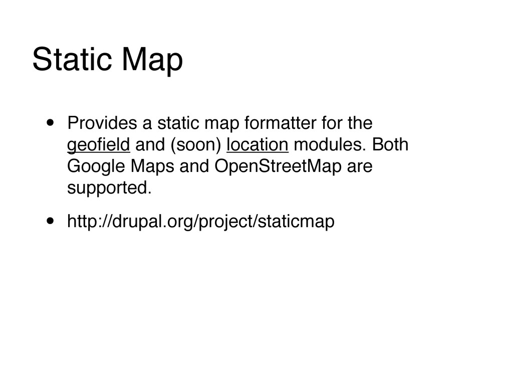 Static Map • Provides a static map formatter fo...