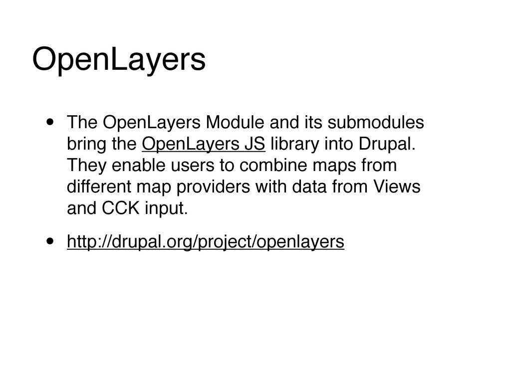 OpenLayers • The OpenLayers Module and its subm...