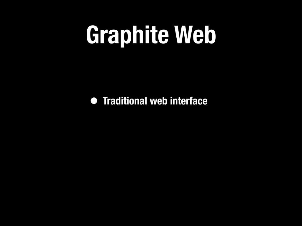 Graphite Web • Traditional web interface