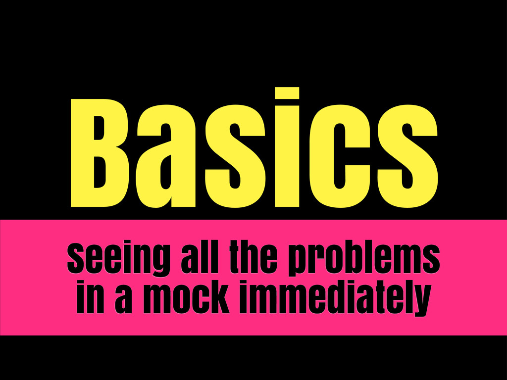 Basics Seeing all the problems in a mock immedi...