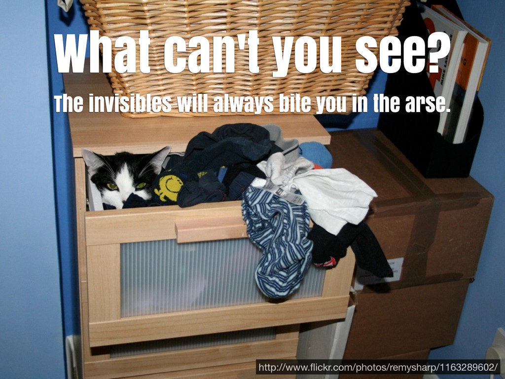 What can't you see? The invisibles will always ...