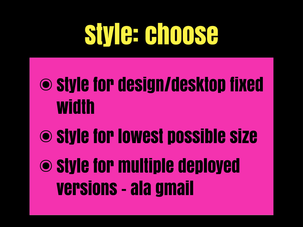 Style: choose ๏Style for design/desktop fixed w...
