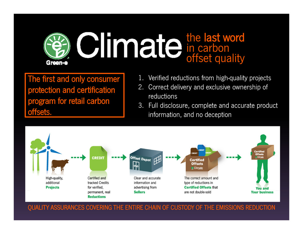 the last word in carbon offset quality The firs...
