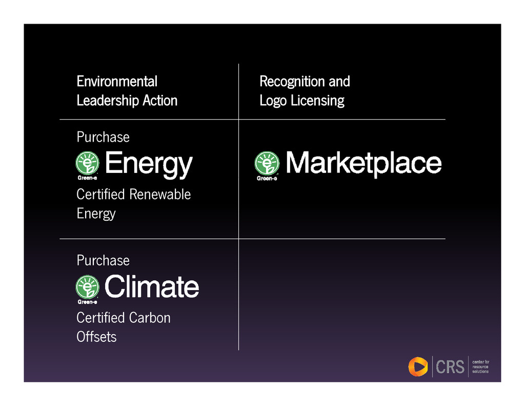 Recognition and Logo Licensing Environmental Le...