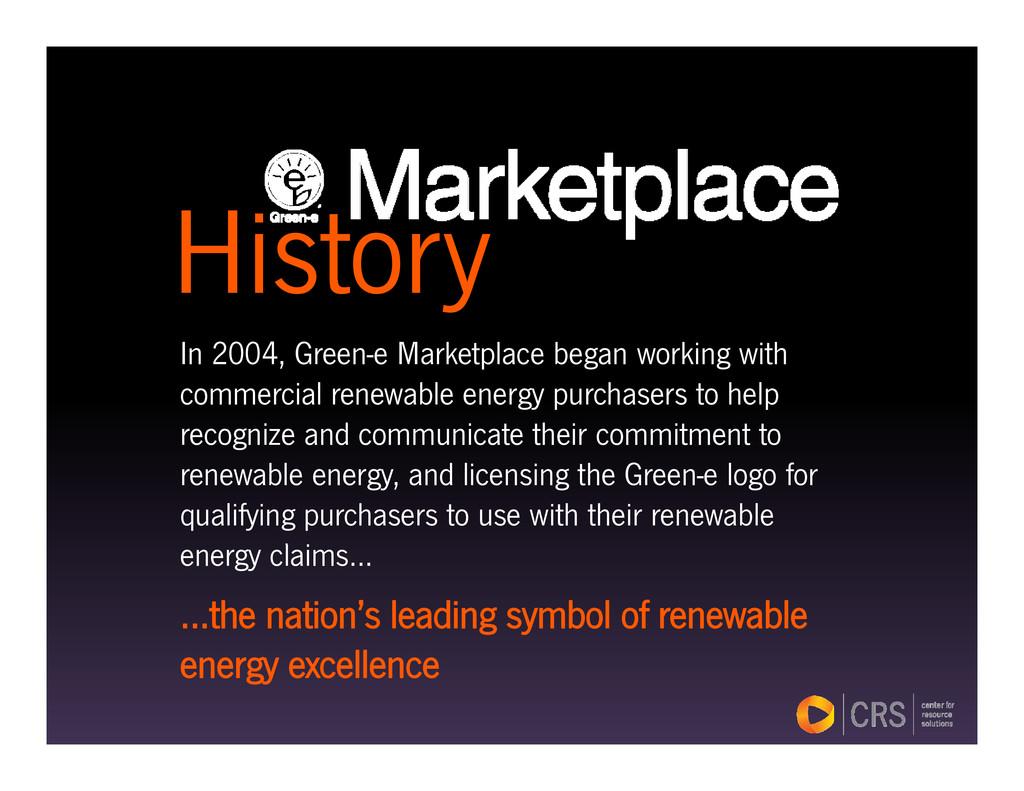History I 2004 G M k t l b ki ith History In 20...
