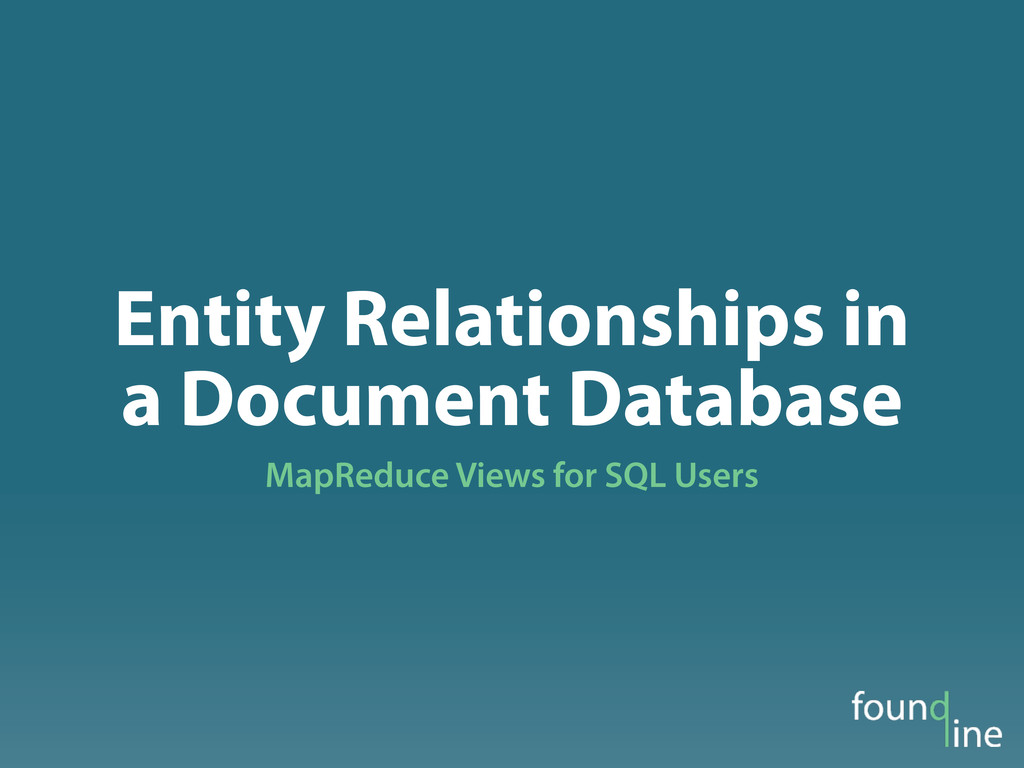 Entity Relationships in a Document Database Map...