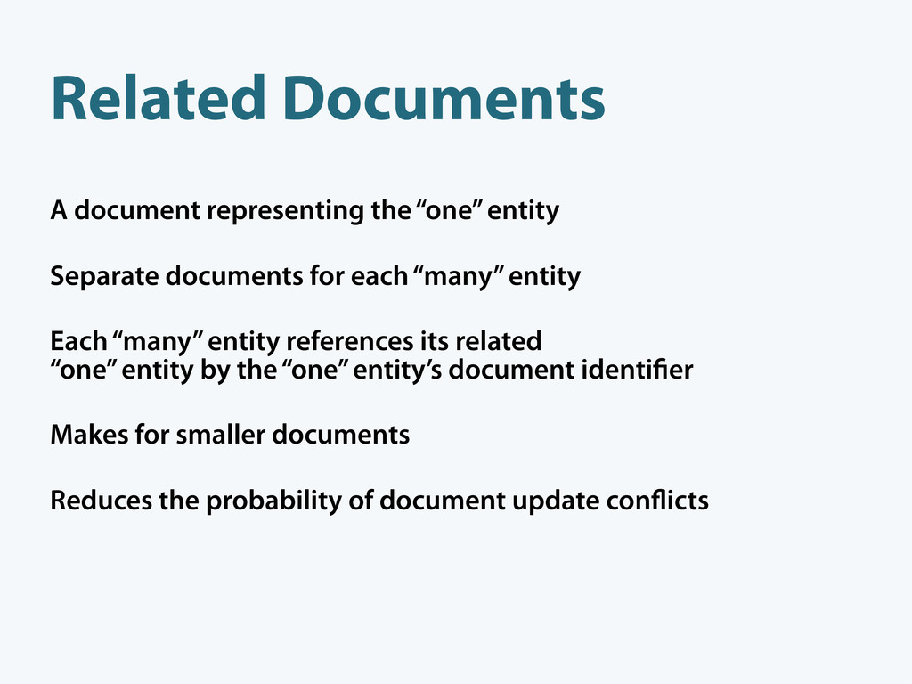 """A document representing the """"one"""" entity Separa..."""