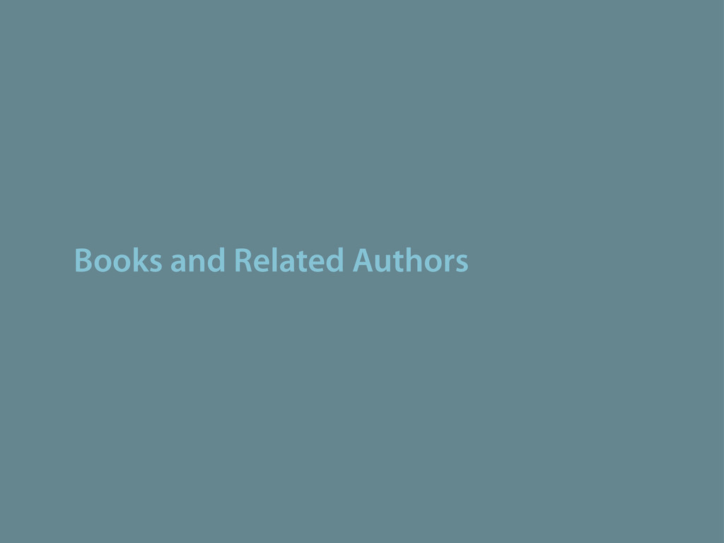 Books and Related Authors