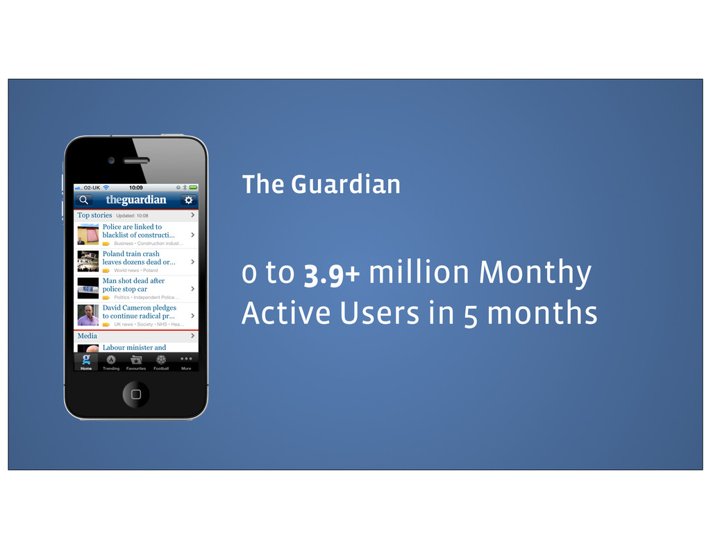 The Guardian 0 to 3.9+ million Monthy Active Us...
