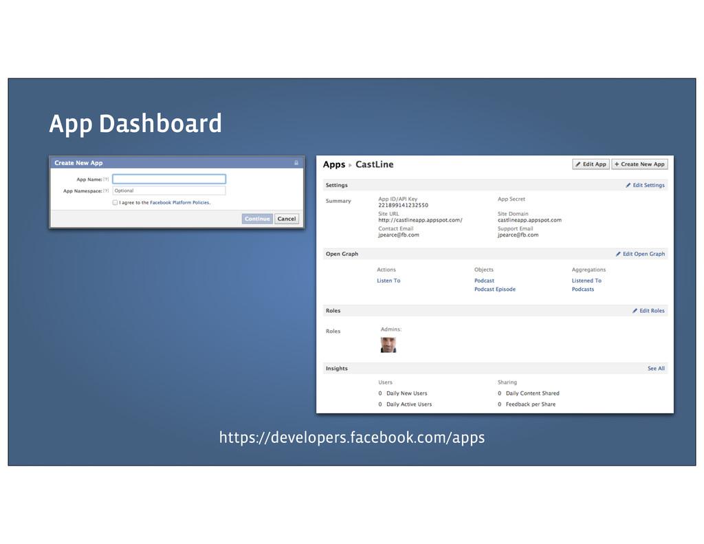 App Dashboard https://developers.facebook.com/a...
