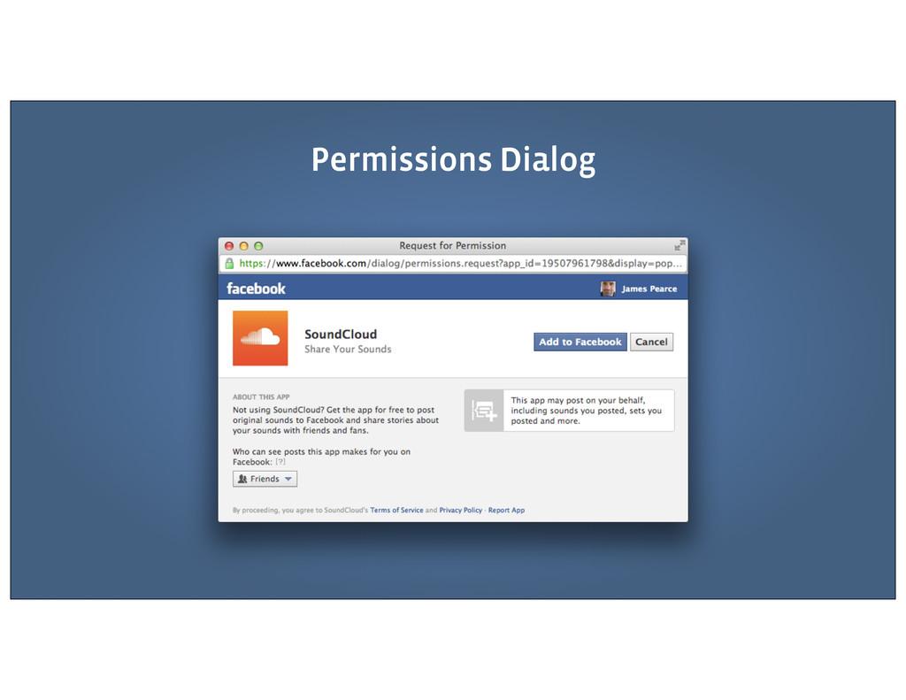 Permissions Dialog