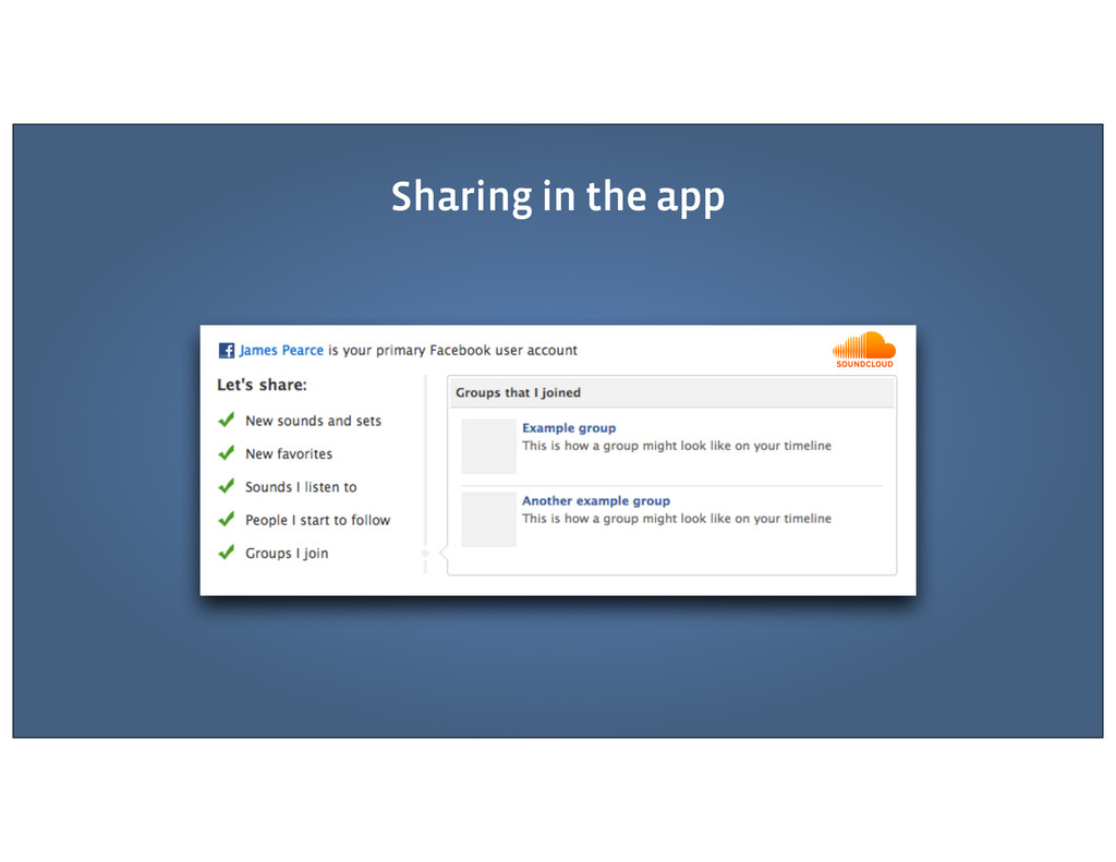 Sharing in the app