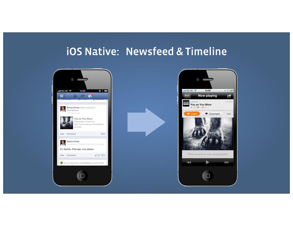 iOS Native: Newsfeed & Timeline