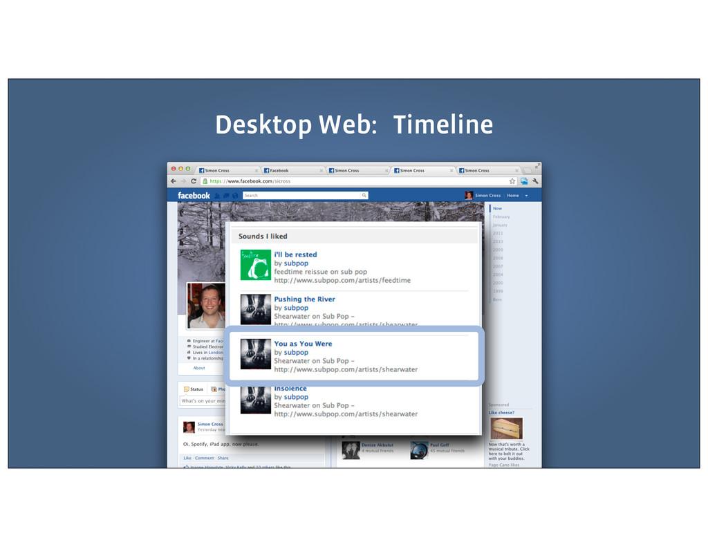 Desktop Web: Timeline