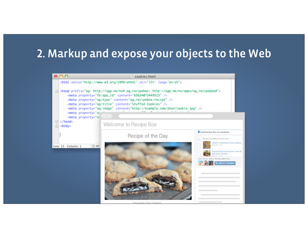 . Markup and expose your objects to the Web
