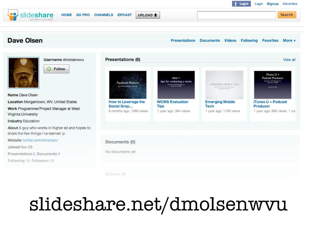 slideshare.net/dmolsenwvu