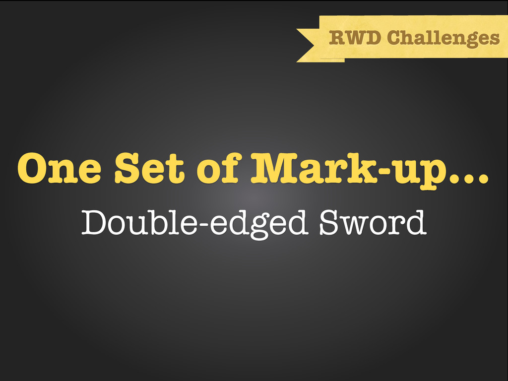 One Set of Mark-up... Double-edged Sword RWD Ch...