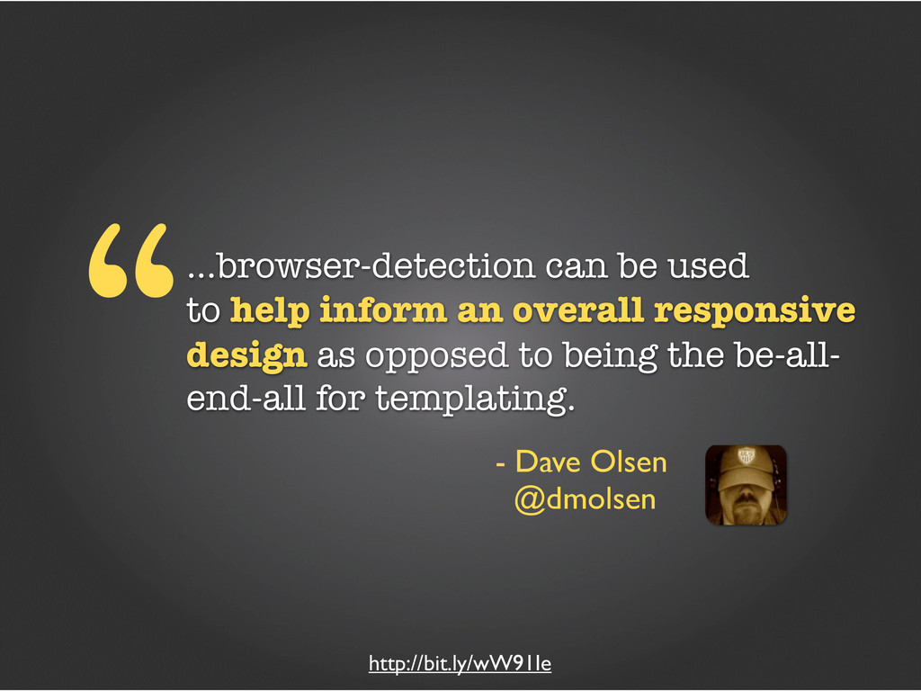 """...browser-detection can be used to help infor..."