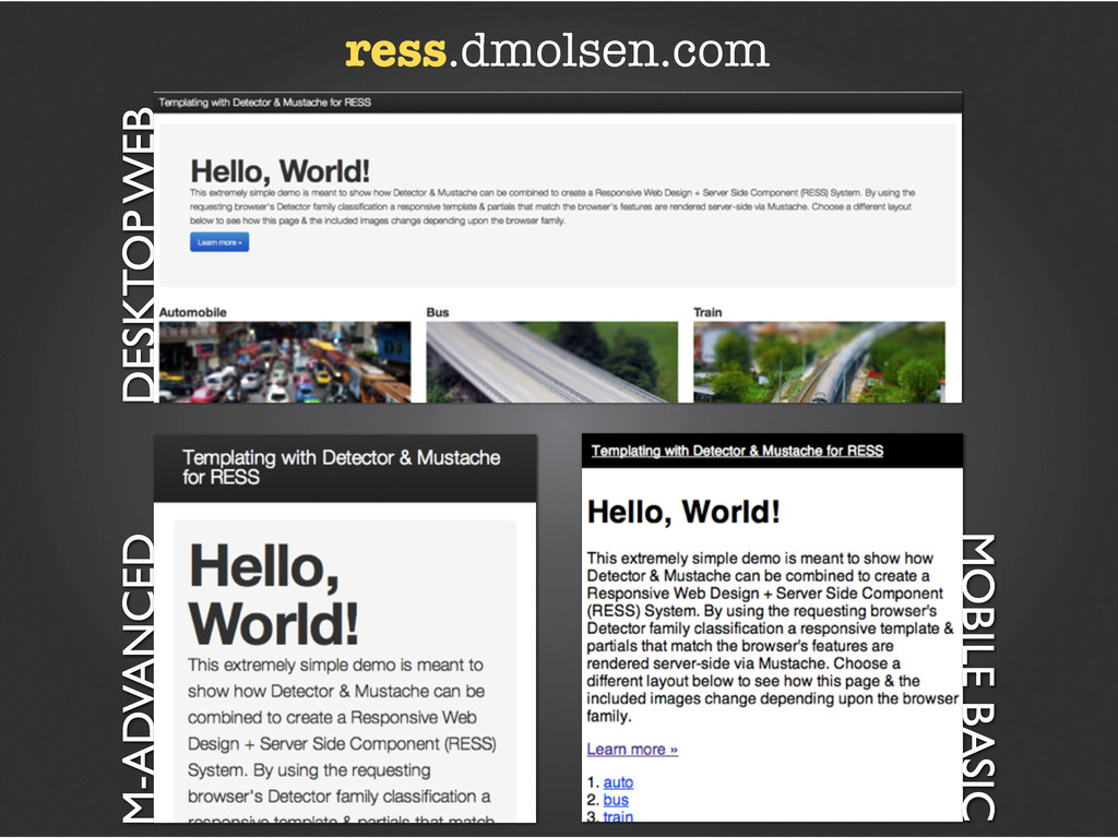 DESKTOP WEB M-ADVANCED ress.dmolsen.com MOBILE ...
