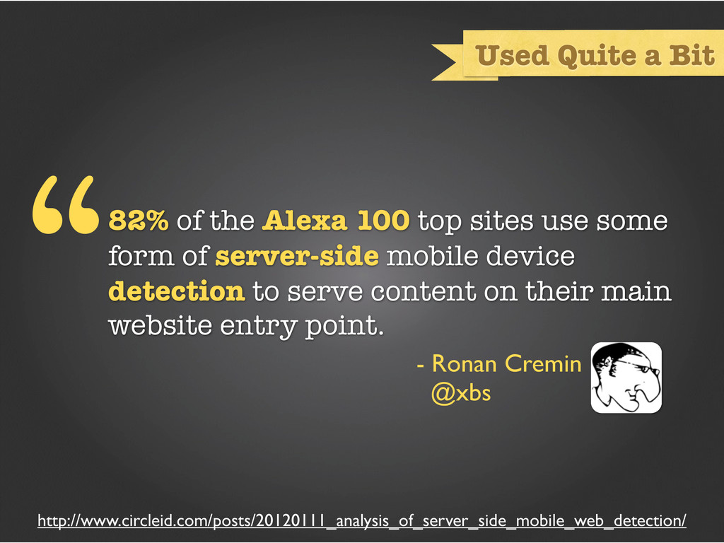 82% of the Alexa 100 top sites use some form of...