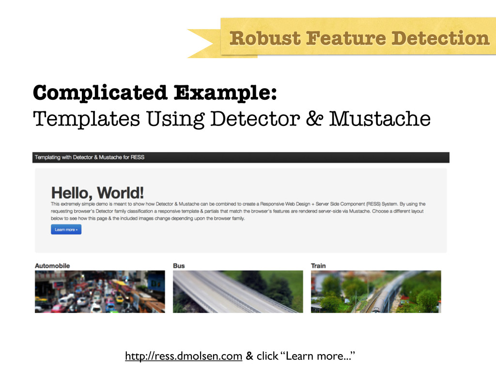 Complicated Example: Templates Using Detector &...