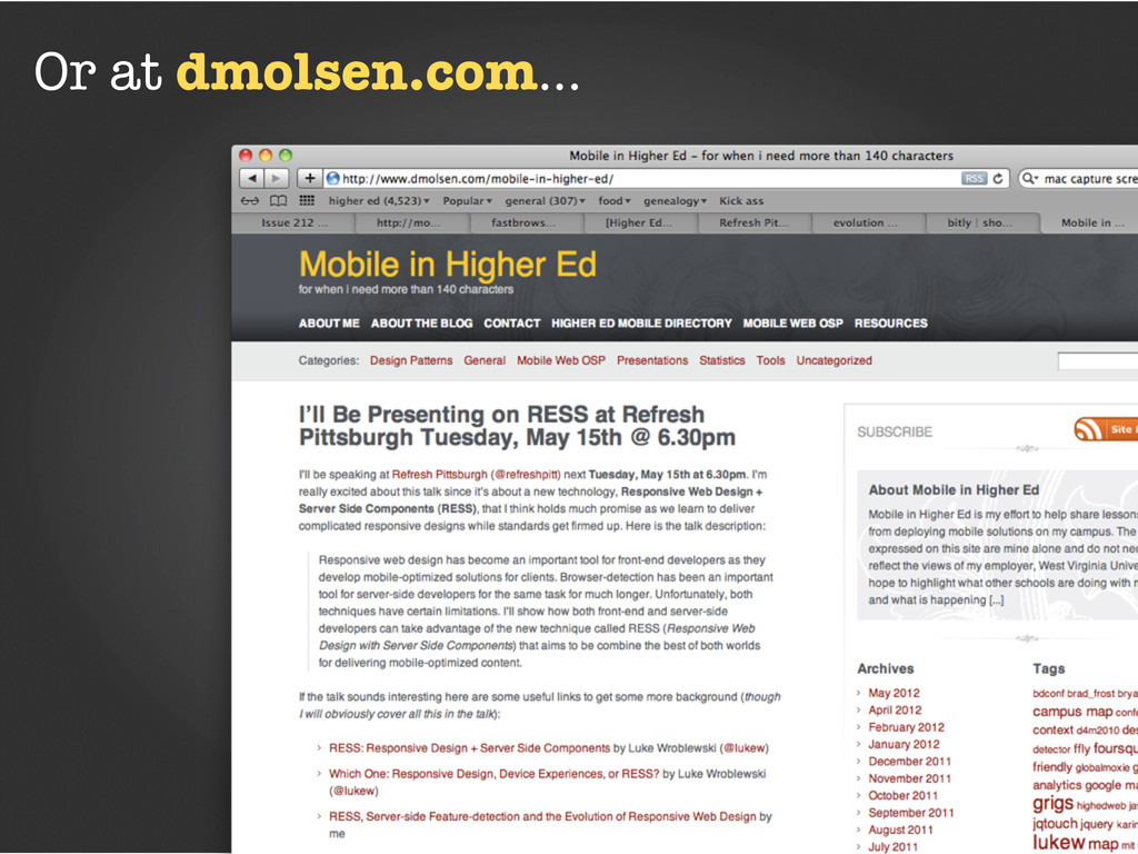 Or at dmolsen.com...
