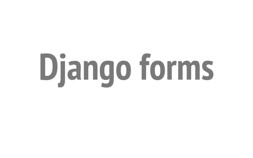 Django forms