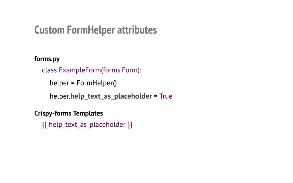 Custom FormHelper attributes forms.py Crispy-fo...