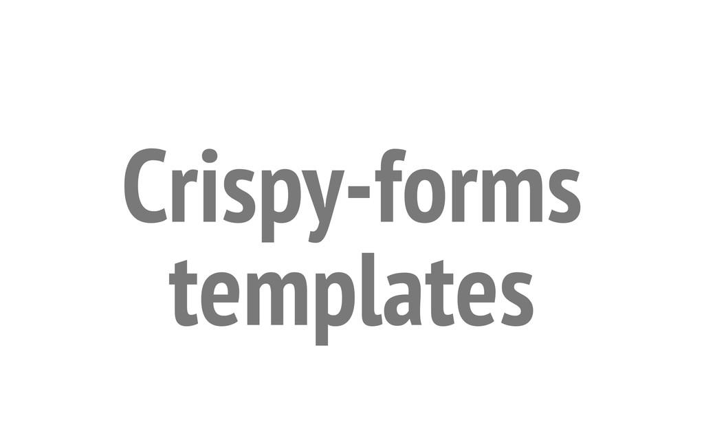 Crispy-forms templates