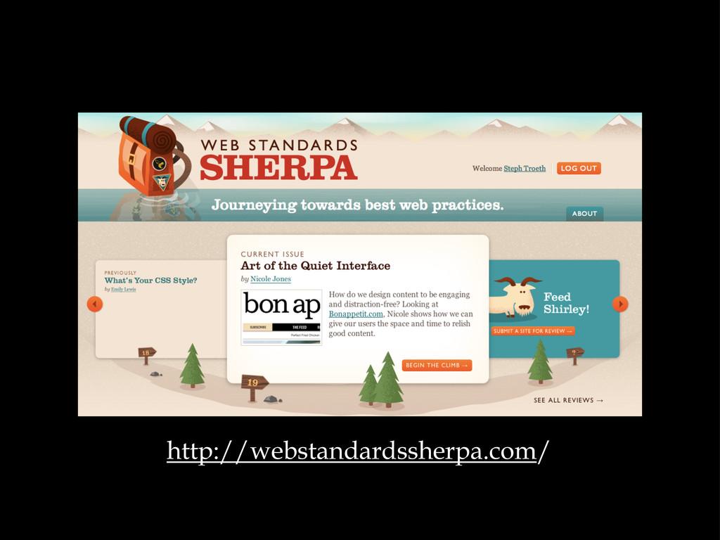 http://webstandardssherpa.com/