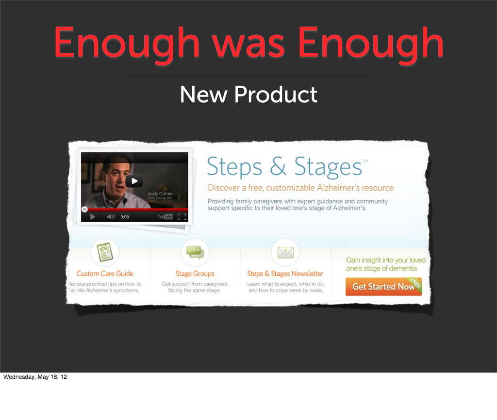 Enough was Enough New Product Wednesday, May 16...