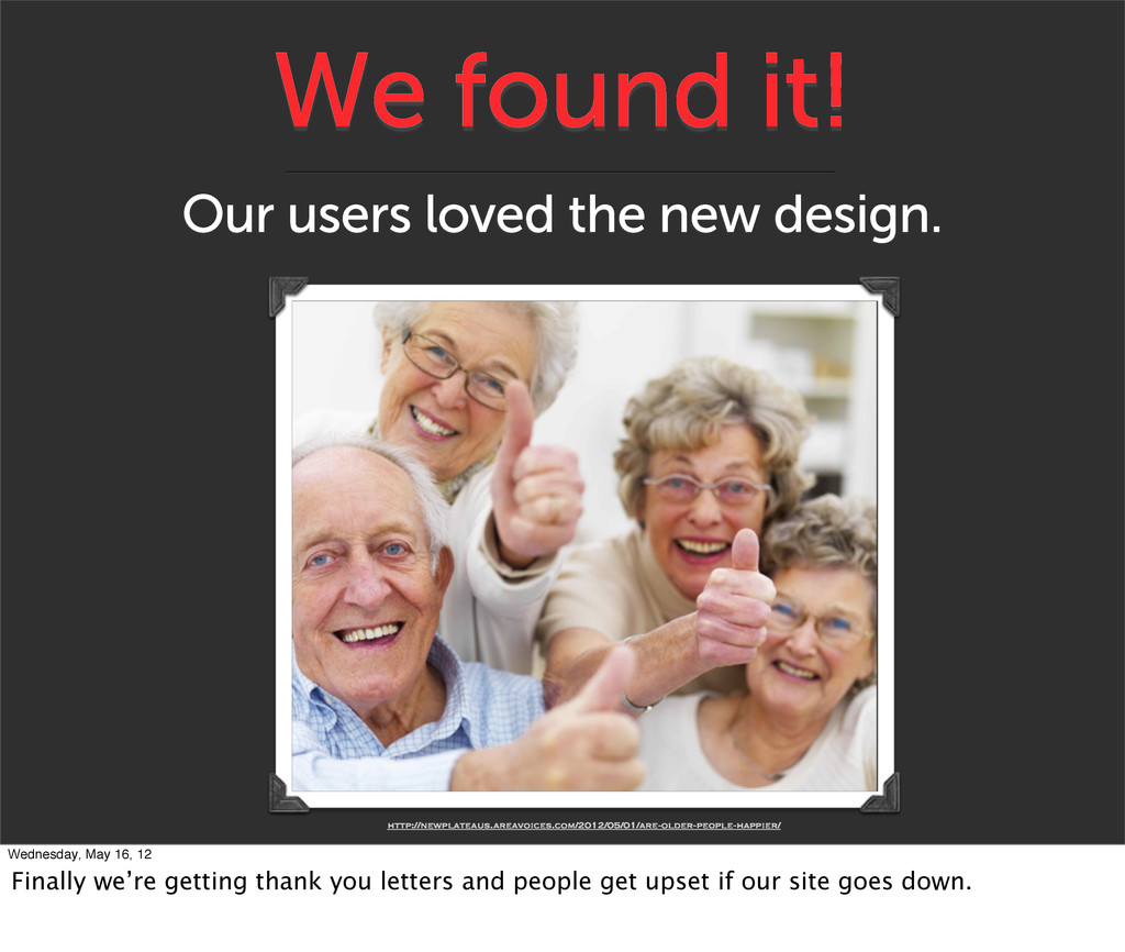 We found it! Our users loved the new design. ht...