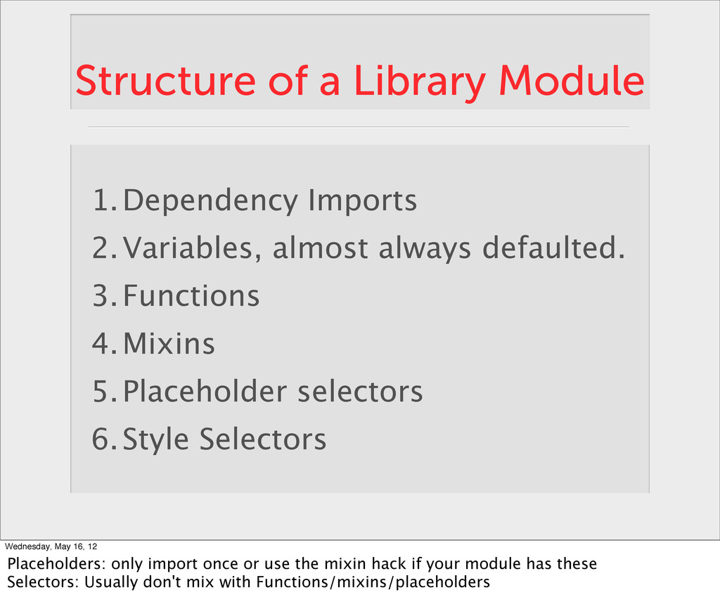 Structure of a Library Module 1.Dependency Impo...