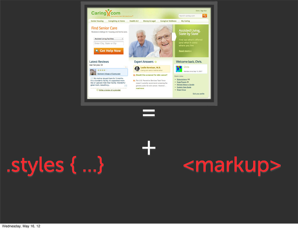 + <markup> .styles { ...} = Wednesday, May 16, ...